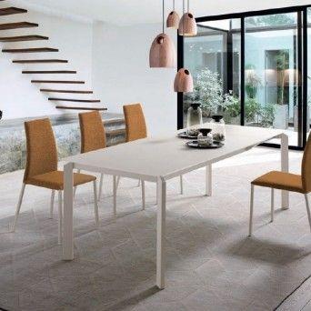 Mesa de comedor rectangular extensible Vision