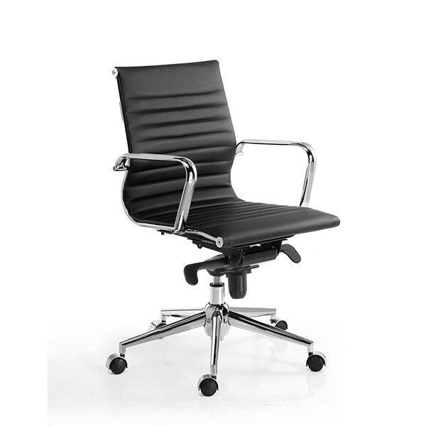 comprar online silla de oficina Londres respaldo bajo Euromof en Muebles Lara
