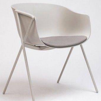 silla bai con asiento tapizado