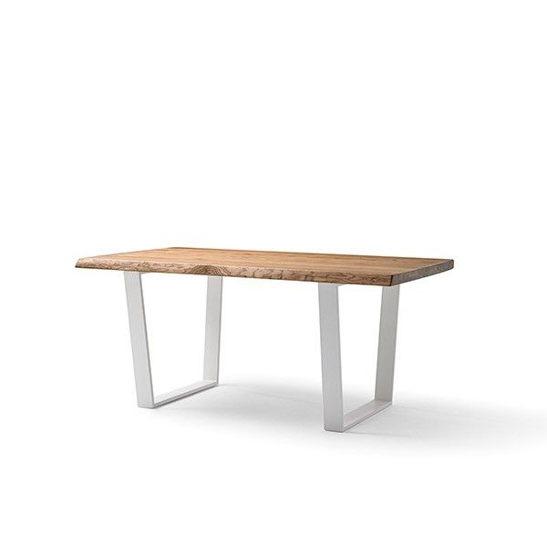 Mesa de comedor de madera maciza de fresno