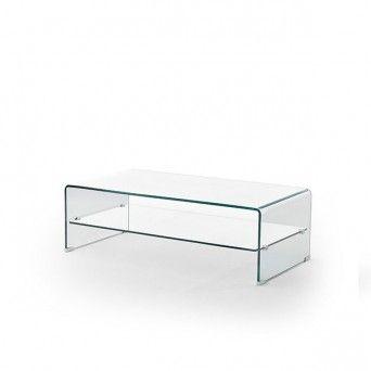 mesa centro salon moderna cristal Yves