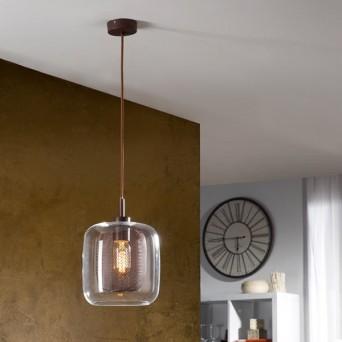 lampara colgante de estilo rústico en muebles lara