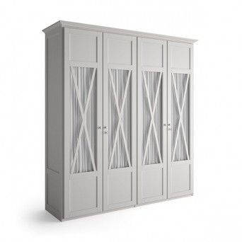 Armario de 4 puertas de estilo rustico